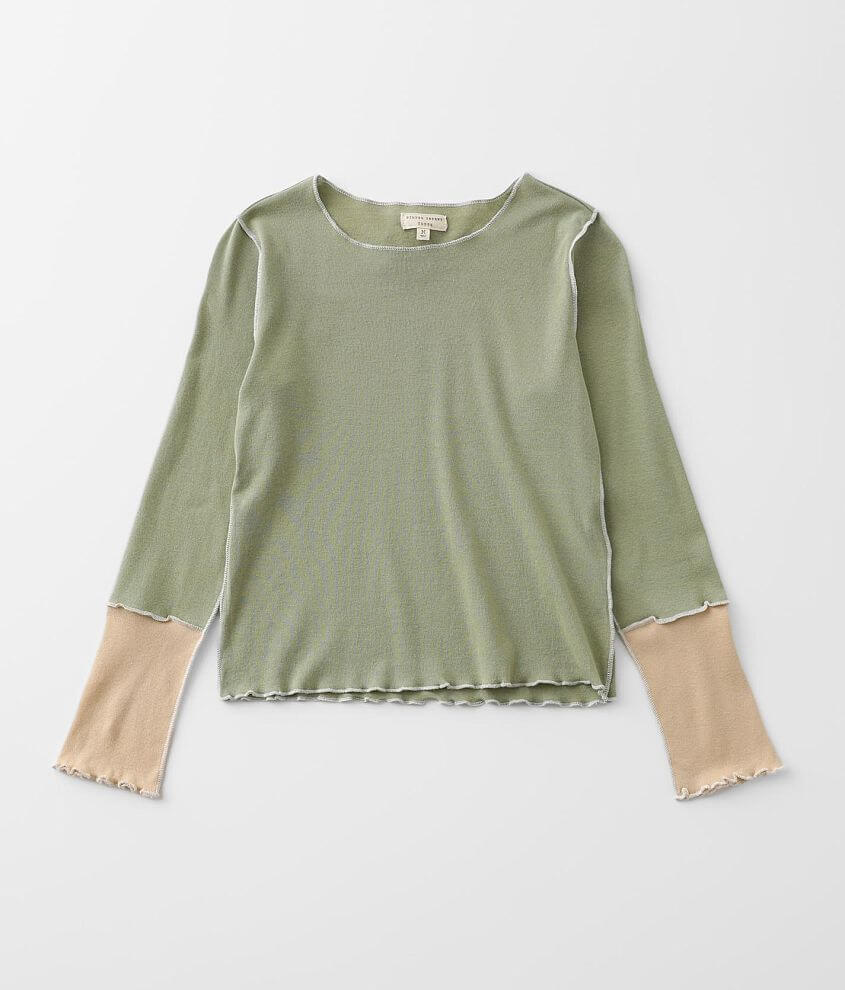 Girls - Gilded Intent Pieced Knit Top front view