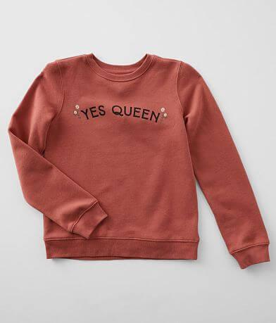 Girls - Modish Rebel Yes Queen Sweatshirt