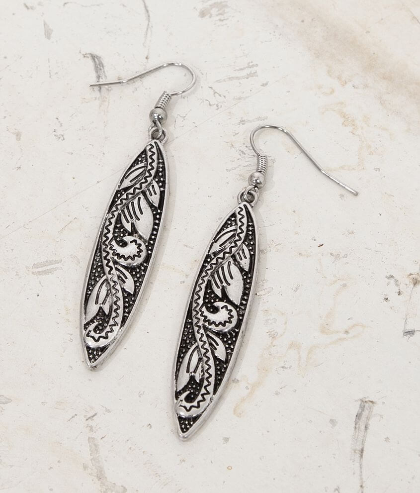 BKE Engraved Earring front view