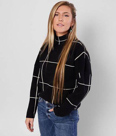 Anna Cai Window Panel Turtleneck Sweater