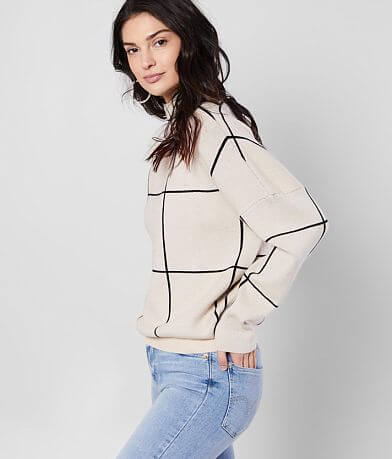Anna Cai Window Panel Turtleneck Sweater