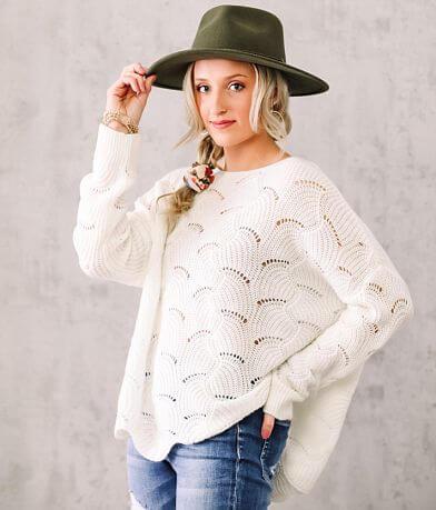 Willow & Root Fan Stitch Pointelle Sweater