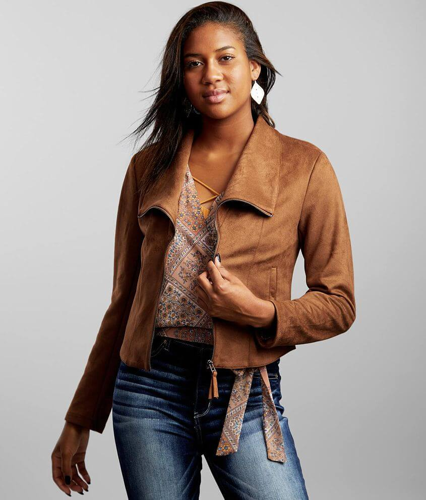BKE Faux Suede Jacket front view