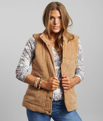 BKE Corduroy Puffer Vest