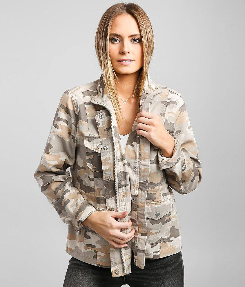 BKE Camo Utility Jacket front view