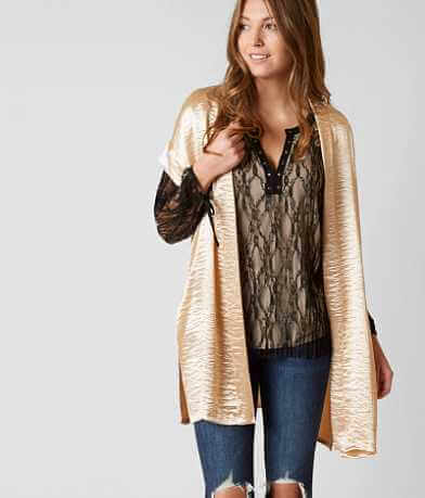 BKE Boutique Satin Cardigan