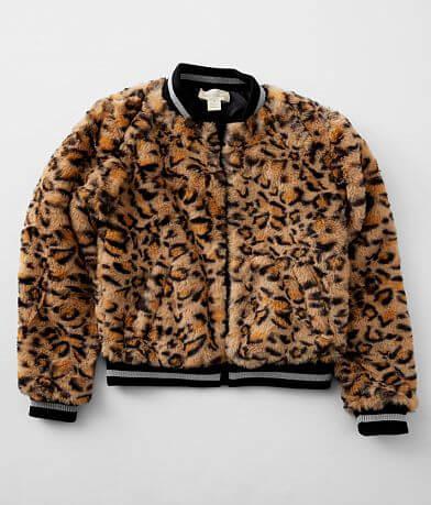 Girls - Jake & Anna® Faux Fur Bomber Jacket