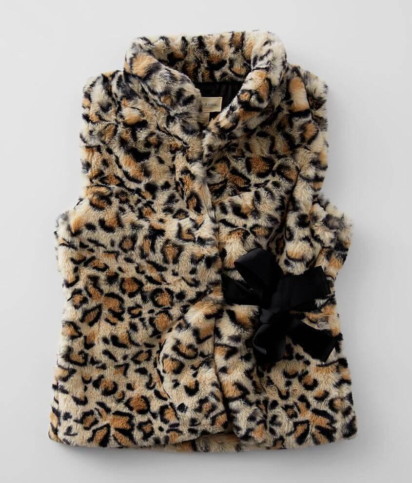 Girls - Jake & Anna® Faux Fur Vest front view