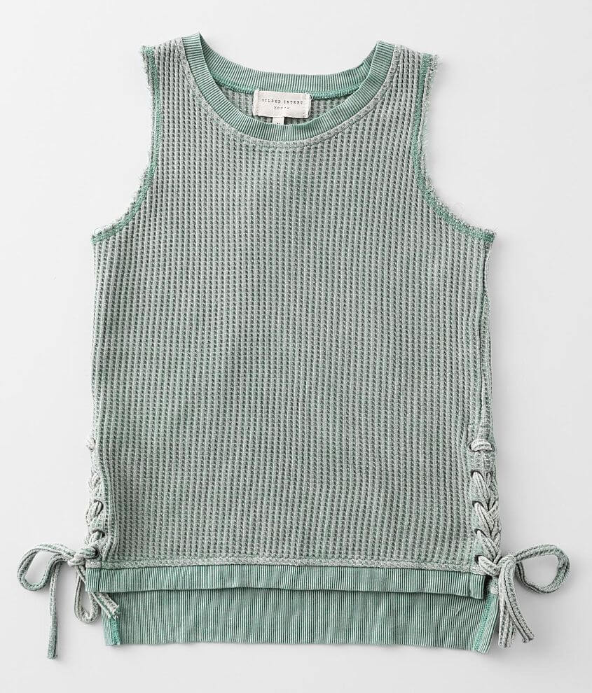Girls - Gilded Intent Waffle Knit Tank Top front view