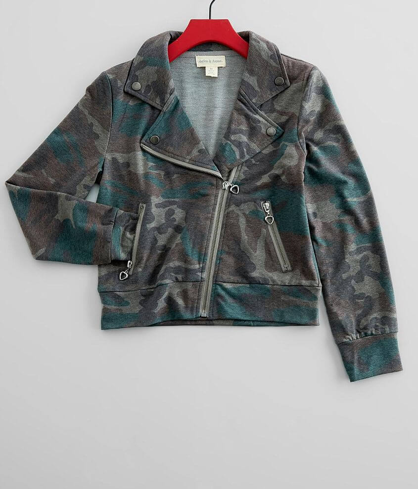 Jake & Anna® Washed Camo Jacket front view