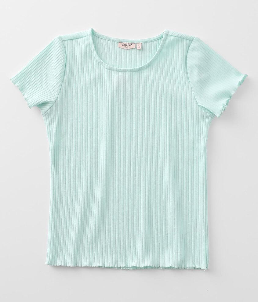 Girls - Willow & Root Ribbed Top front view