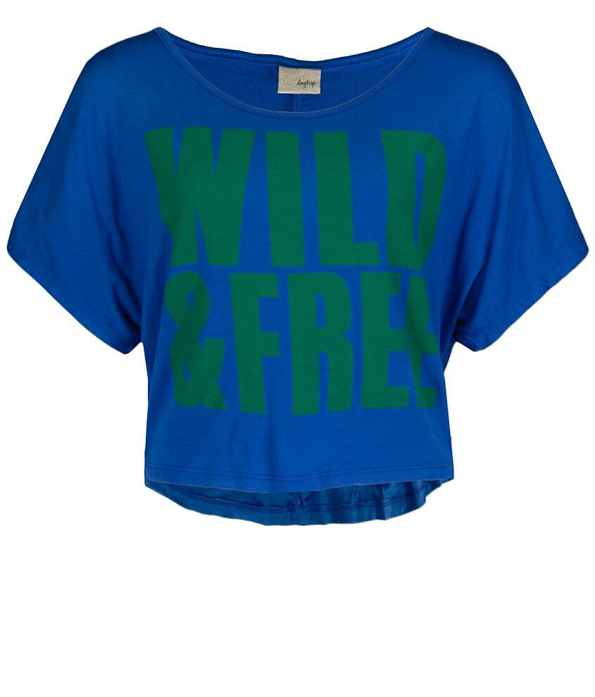 Daytrip Wild & Free Cropped Top front view