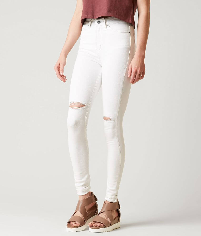 4d403eb2ce4 Calvin Klein Jeans High Rise Skinny Jegging - Women s Jeans in White ...