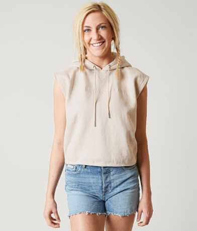 Calvin Klein Sleeveless Cropped Sweatshirt