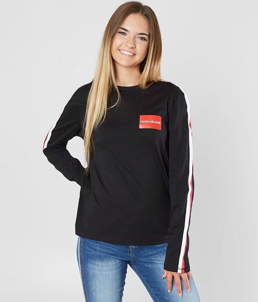 Calvin Klein Side Stripe T-Shirt front view