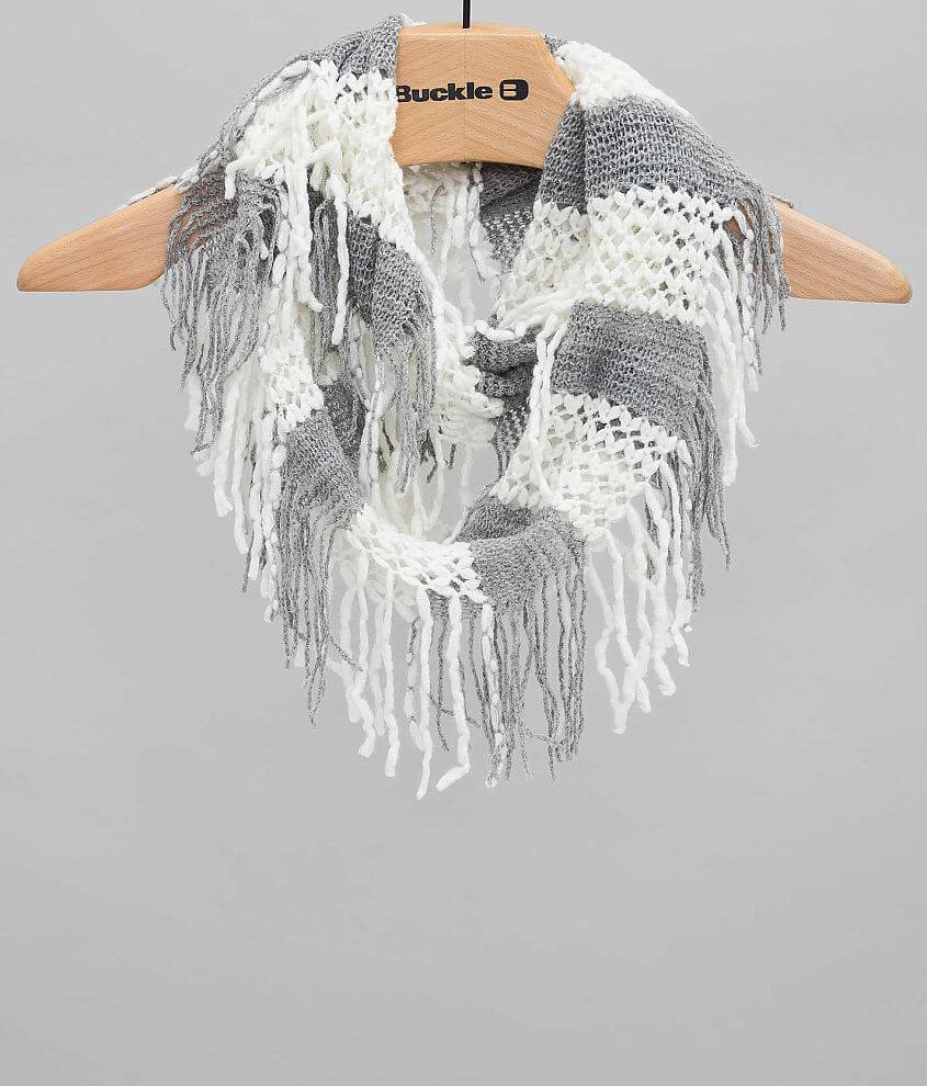 Capelli of New York Fringe Scarf front view