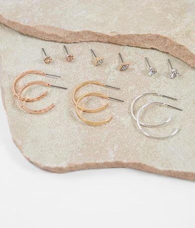 BKE Stud & Hoop Earring Set