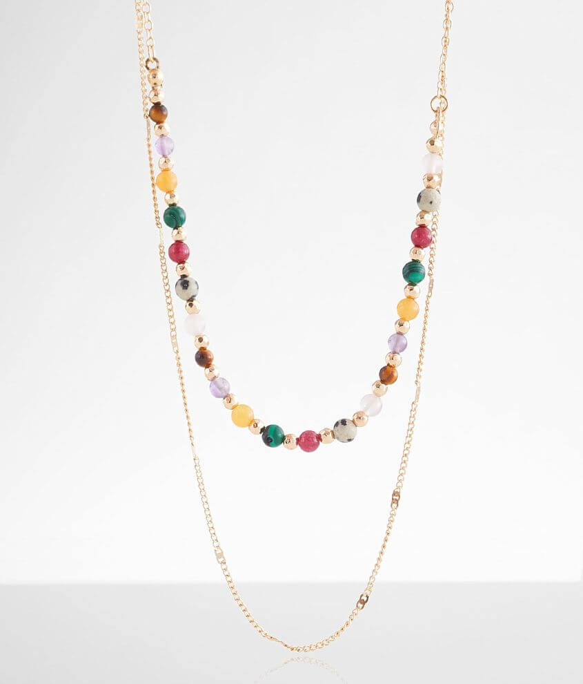 Beaded necklace Shortest tier measures 19\\\