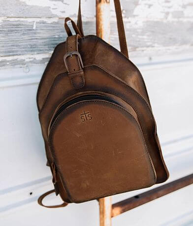 STS Teak Leather Backpack