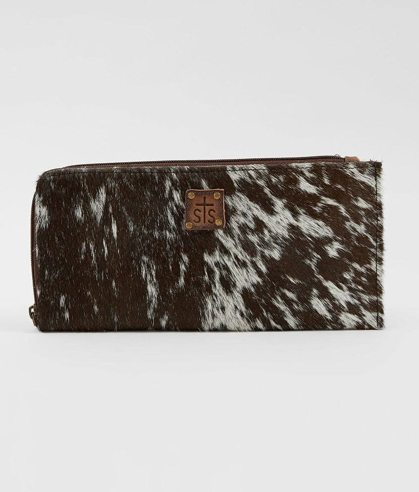 STS Classic Leather Wristlet front view