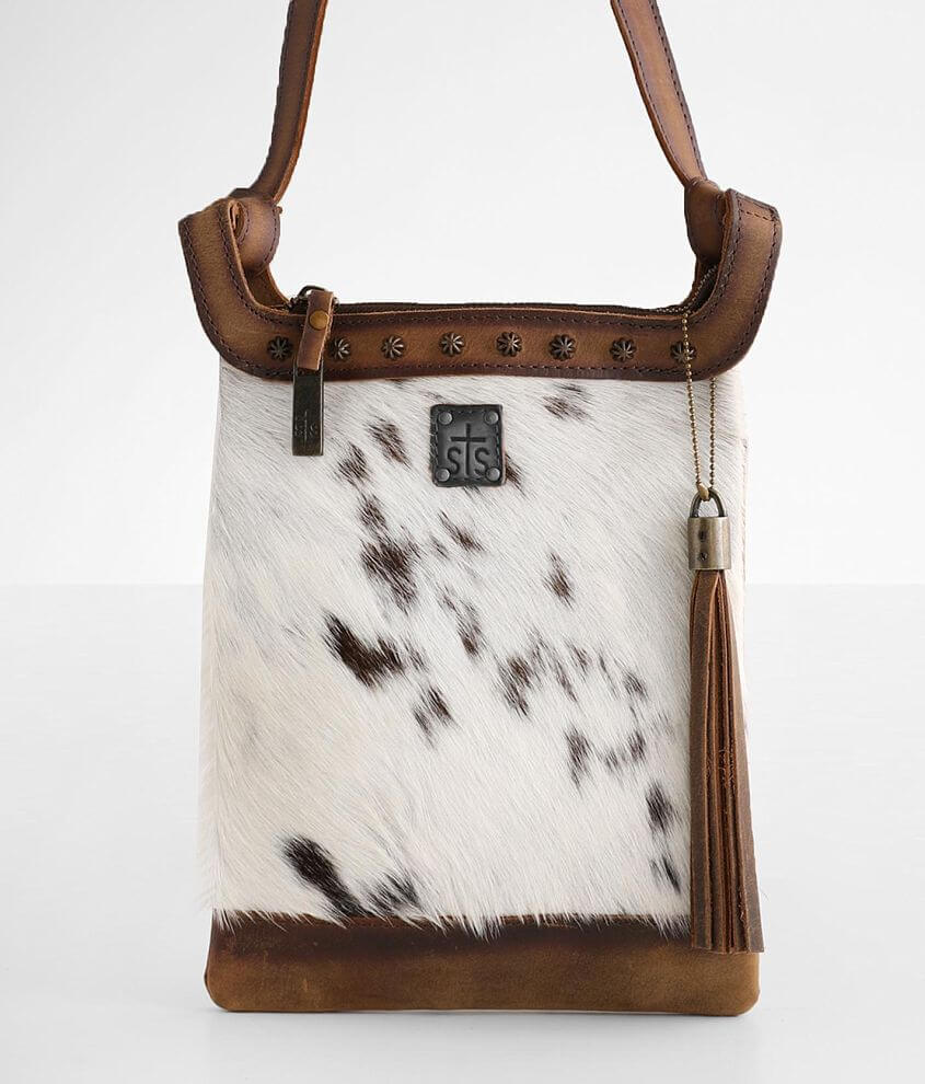 STS Classic Cowhide Leather Crossbody Purse front view