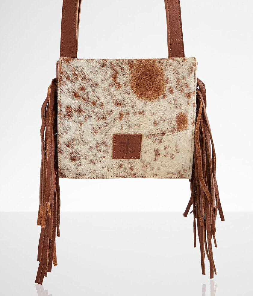 Cowhide fringe purse \\\