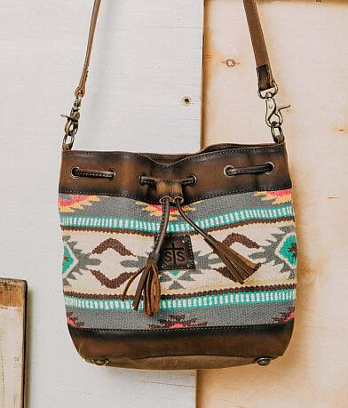 STS Sedona Serape Leather Crossbody Purse