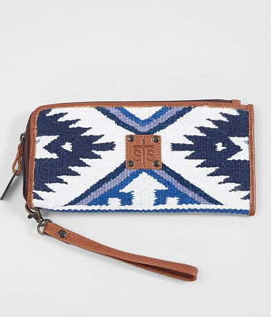 STS Durango Serape Leather Wristlet