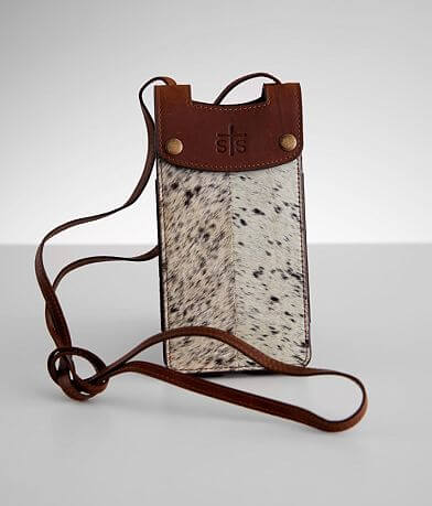 STS Cowhide Cell Phone Crossbody Leather Purse