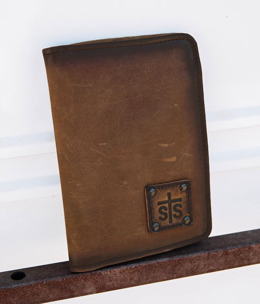 STS Magnetic Leather Wallet front view