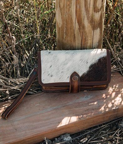 STS Cowhide Leather Crossbody Wallet