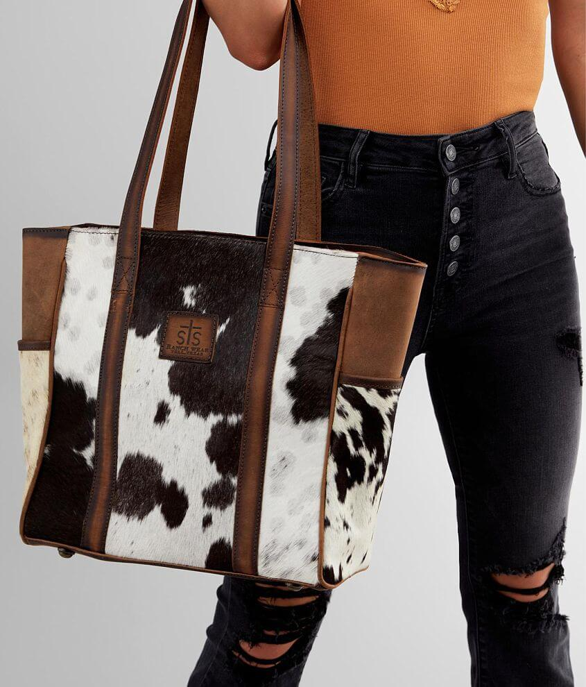 STS Cowhide Heritage Leather Tote Purse front view