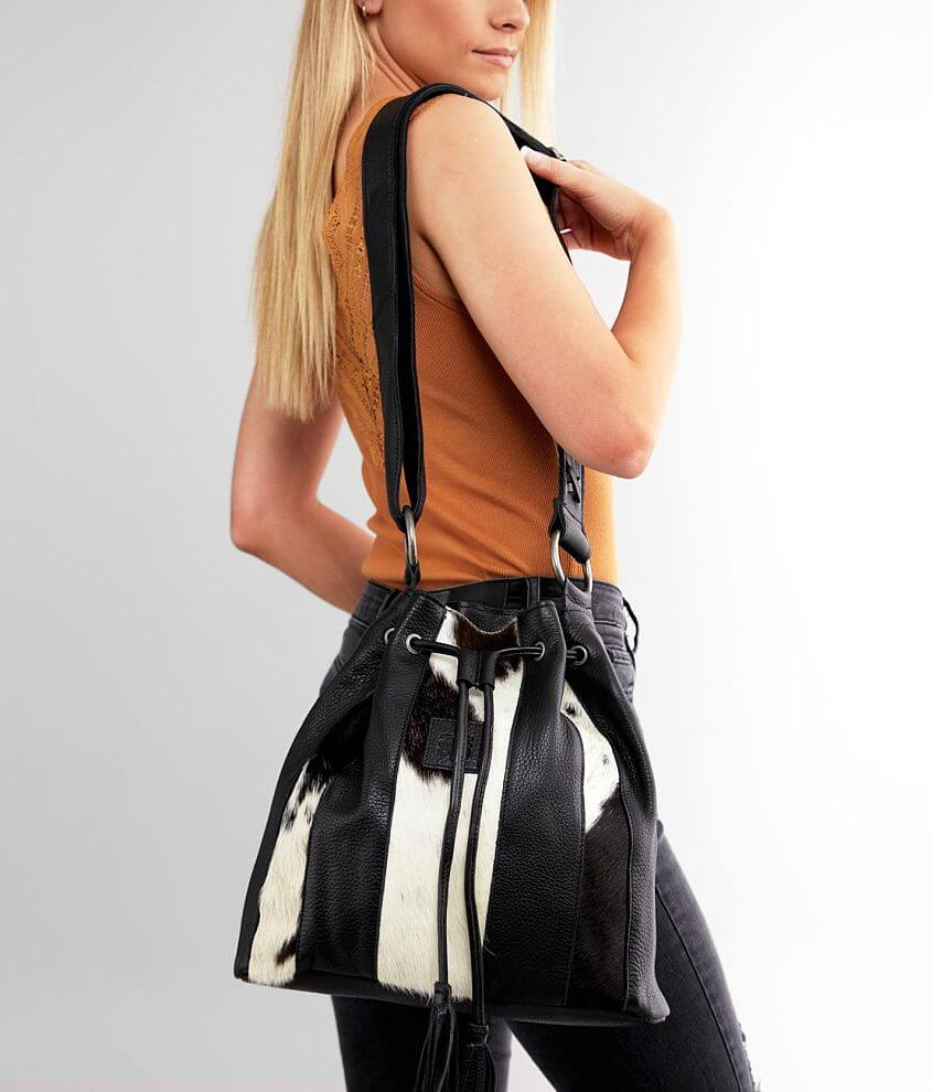STS Cowhide Leather Bucket Purse front view