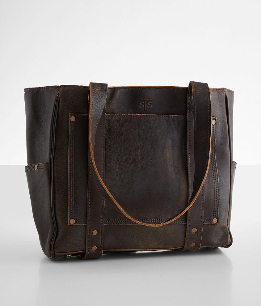 STS Pony Express Leather Tote Purse front view