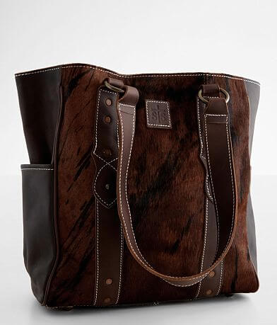 STS Brindle Cowhide Leather Tote Purse