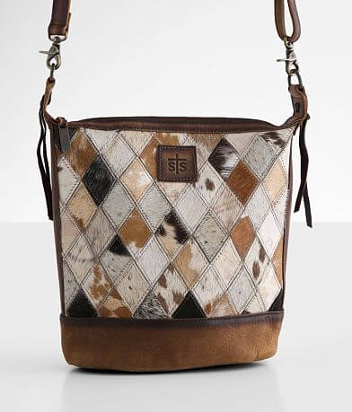 STS Diamond Cowhide Leather Purse