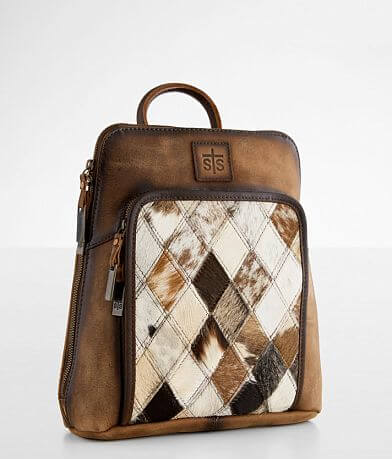 STS Diamond Cowhide Leather Backpack