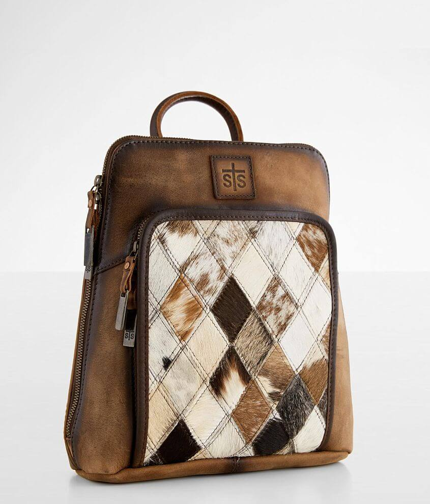 STS Diamond Cowhide Leather Backpack front view
