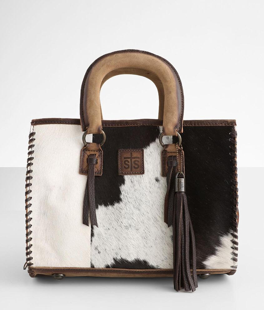 STS Chaps Satchel Leather Purse front view