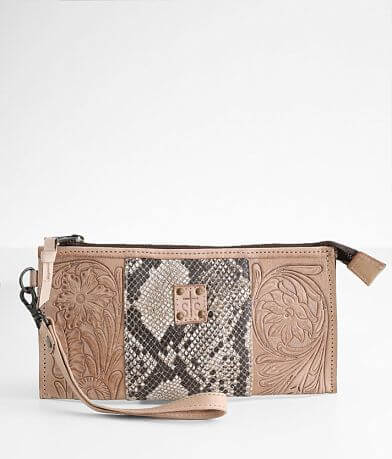 STS Stella Tooled Floral Leather Clutch