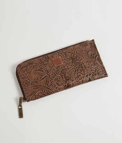 STS Floral Embossed Wristlet Wallet