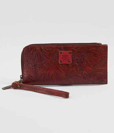 STS Embossed Wristlet