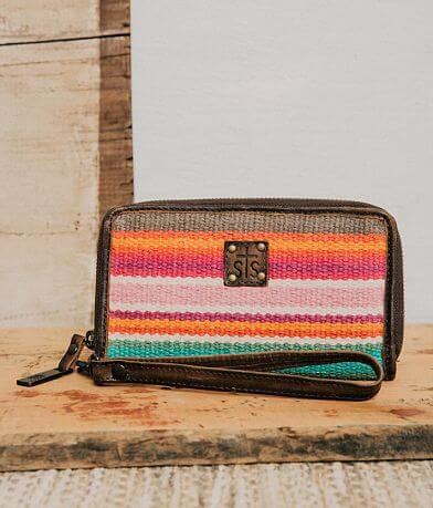 STS Cactus Serape Leather Wristlet