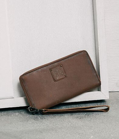 STS Rosa Leather Wristlet