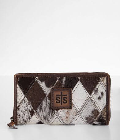 STS Diamond Cowhide Leather Wallet