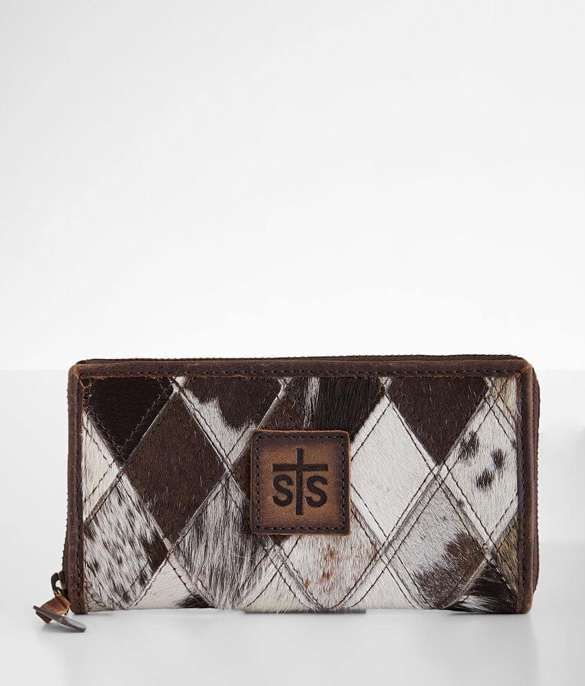 STS Diamond Cowhide Leather Wallet front view