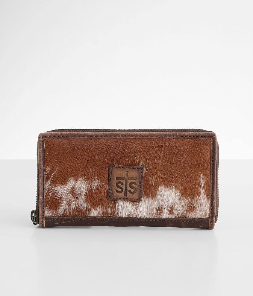 STS Cowhide Bifold Leather Wallet front view