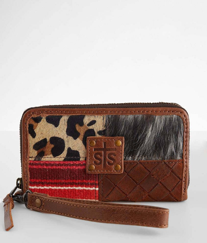 STS Remnants Rosa Leather Wristlet Wallet front view