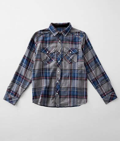 Boys - BKE Plaid Flannel Shirt