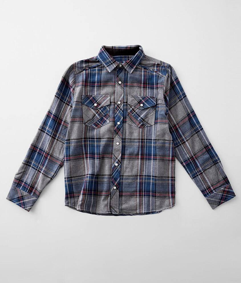 Boys - BKE Plaid Flannel Shirt front view